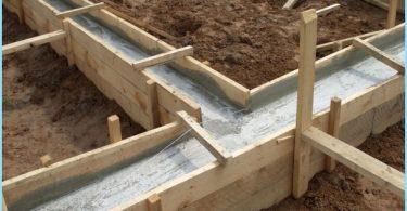 Andelene av betongen for fundamentet