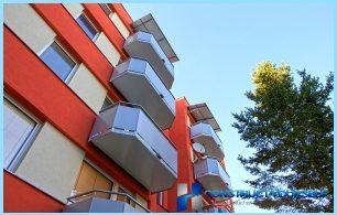 Forskjeller mellom balkongen og en loggia