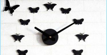 Hvordan sommerfugler på veggen med hendene