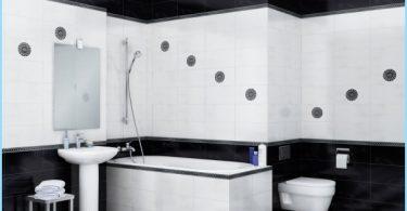 Utformingen av svart og hvitt bad