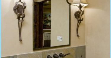 Design speil på badet