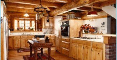 Kjøkken i et trehus - en moderne design på hytta