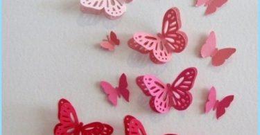 Dekorative sommerfugler å dekorere veggene
