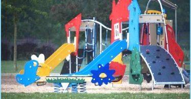 Installasjon av lekeplass med sine egne hender