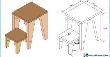 En stol-gardintrapp: bilder, videoer, tegninger