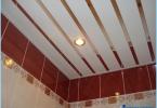 Hvordan lage et stativ taket på badet